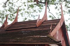 Thailand wooden roof. Stock Images
