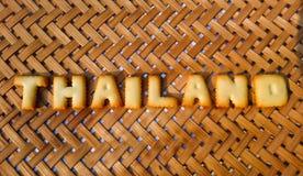 Thailand-Wort auf Hintergrund Lizenzfreie Stockfotografie