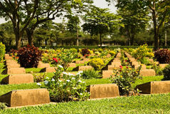 Thailand WW2 cemetery Royalty Free Stock Photo