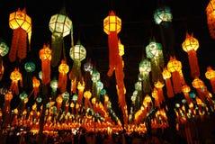 Thailand yi peng festival Fotografering för Bildbyråer