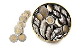 Thailand zehn Bahtmünzen Stockfotografie
