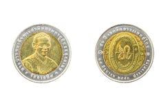 Thailand zehn 50. medizinische Technologie Depa der Baht-Münzen-2007 Stockfoto