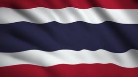 Thailandia: video in movimento sventola nel vento Flag Closeup 1080p illustrazione vettoriale