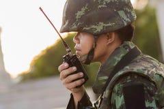 Thailands militaire revolutie Stock Foto's