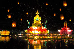 Thailands traditional Loy Krathong Festival Royalty Free Stock Photos