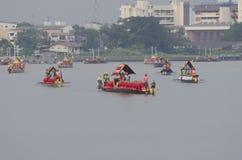 Thailändische königliche barge herein Bangkok Lizenzfreies Stockbild