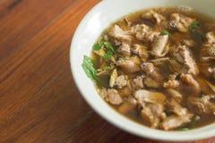 Thailändische würzige und saure Suppe von Rindfleisch-Eingeweiden Stockfotos