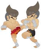Thailändischer Fighting Muay Lizenzfreie Stockbilder
