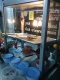 Thailändisches Lebensmittel, Abendessen in Thailand Stockfotos