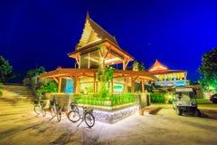 Thailändsk paviljong i aftonen Arkivbilder