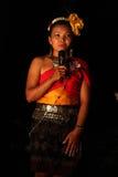Thailändsk stam- flicka Arkivbild