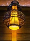 Thailändsk stil för lampa Arkivfoto