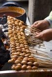 Thailändsk stil grillad köttboll Arkivfoto