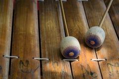 Thailändskt alt- instrument för xylofonasia musik Arkivbild