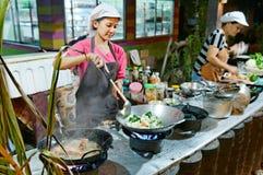 Thailändskt kök Arkivbild