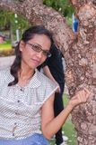 Thailvrouwen in vakantie. Stock Foto's
