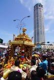 Thaipusam节日在乔治城,槟榔岛,马来西亚 库存照片