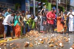 Thaipusam节日在乔治城,槟榔岛,马来西亚 免版税库存图片