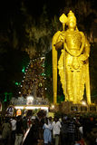 Thaipusam. BATU CAVES, MALAYSIA - JANUARY 20: Night view of Batu Caves temple during the festival of Thaipusam on January 20, 2011 in Batu Caves, Malaysia Stock Image