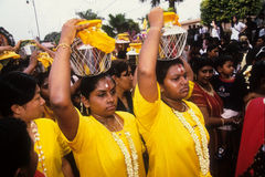 Thaipusam. Is a Hindu festival celebrated mostly by the Tamil community on the full moon in the Tamil month of Thai (January/February). It is not only observed Stock Photo