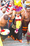 Thaipusam Festival 2012: Gesamthingabe-Pilgerer Stockbild