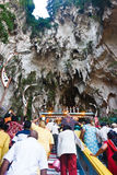Thaipusam Festival 2012 : Going into the Cave Stock Photos
