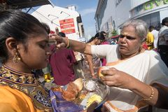 Thaipusam-Festival in Georgetown, Penang, Malaysia stockfotos