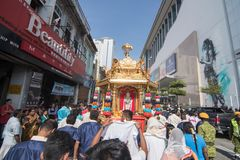 Thaipusam festival på Georgetown, Penang, Malaysia Fotografering för Bildbyråer