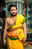 Thaipusam. Hindu Devotee at Thaipusam procession royalty free stock photo