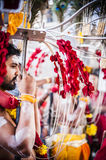 Thaipusam. Is a Hindu festival celebrated mostly by the Tamil community on the full moon in the Tamil month of Thai (January/February). It is mainly observed in Stock Photo