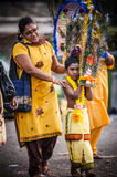 Thaipusam. Is a Hindu festival celebrated mostly by the Tamil community on the full moon in the Tamil month of Thai (January/February). It is mainly observed in Stock Images