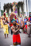 Thaipusam. Is a Hindu festival celebrated mostly by the Tamil community on the full moon in the Tamil month of Thai (January/February). It is mainly observed in Stock Image