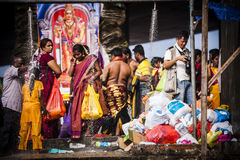 Thaipusam. Is a Hindu festival celebrated mostly by the Tamil community on the full moon in the Tamil month of Thai (January/February). It is mainly observed in royalty free stock photos
