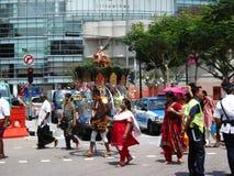 Thaipusam Prozession Singapur Stockbild