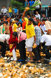Thaipusam smashing stock photo