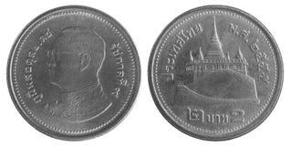 Thais Bahtmuntstuk Royalty-vrije Stock Afbeeldingen
