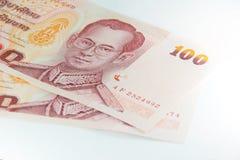 Thais bankbiljet 100 Baht Royalty-vrije Stock Afbeeldingen