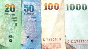 Thais bankbiljet voor contant geld 20.50.100.1000 Royalty-vrije Stock Foto's