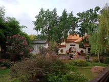 Thais Cultureel de Grootvader` s Hof van Centrumudon Thani Royalty-vrije Stock Afbeeldingen