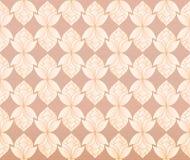 Thais de bloemen uitstekend patroon vector abstracte B van de pastelkleur roze lotusbloem Royalty-vrije Stock Foto