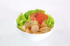 Thais de Lentebroodje en verse salade Stock Foto's
