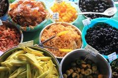 Thais dessert ingelegd fruit stock foto's