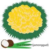 Thais dessert (Jamonggud) stock illustratie