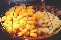 Thais dessert Toddy Palm Cake of Kanom de Tarn stock afbeeldingen