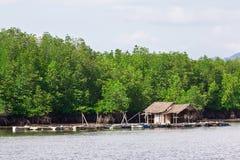 Thais drijvend huis Stock Afbeelding