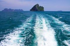Thais eiland, Trang provincie, Thailand. Stock Afbeeldingen