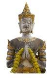 Thais engelenstandbeeld in Tempel op witte backgroung Royalty-vrije Stock Afbeeldingen