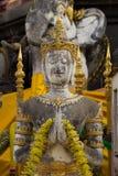 Thais engelenstandbeeld in Tempel, Thailand Stock Fotografie