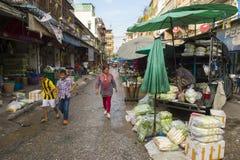 Thais Fruit en Plantaardige Markt Bangkok Thailand Stock Afbeelding