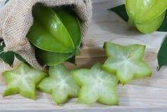 Thais fruit, sterappel op de zak Stock Afbeelding